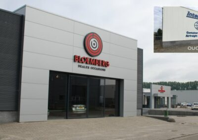 Verbouw opslaghal tot auto showroom