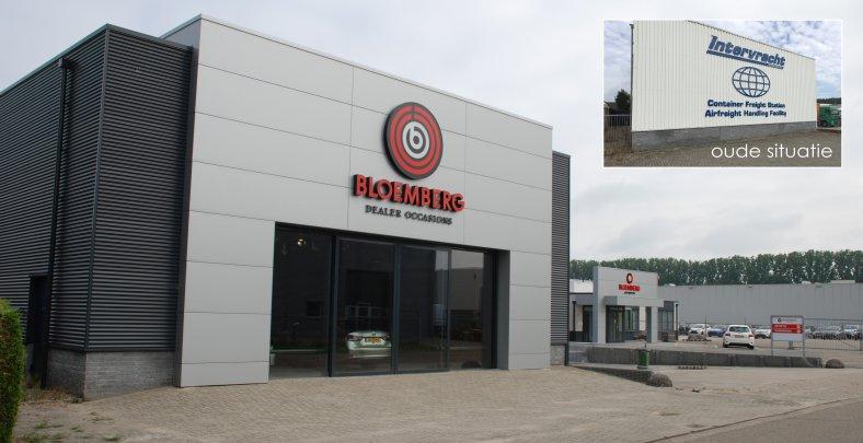 Verbouw opslaghal tot auto showroom